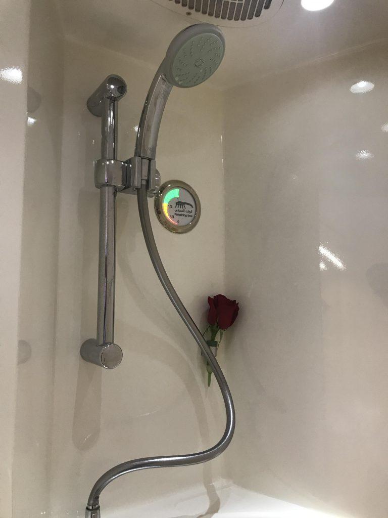 Emirates First Class Shower
