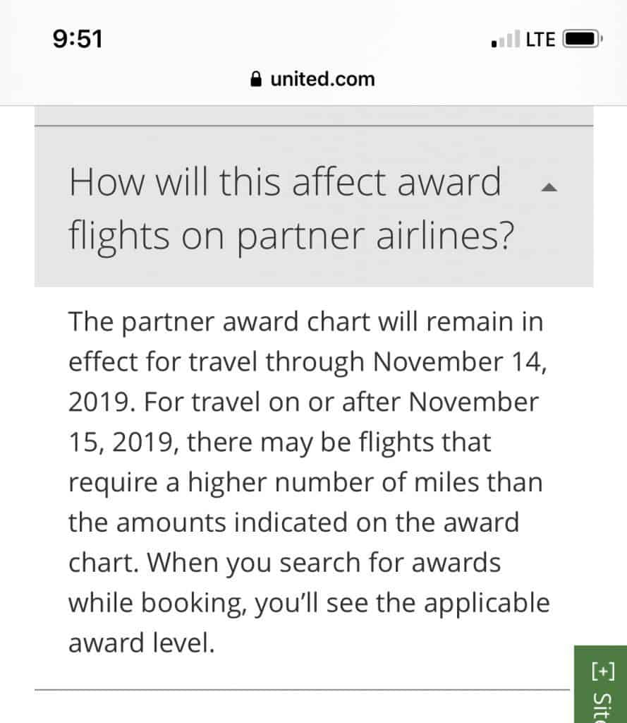 united dynamic partner award pricing