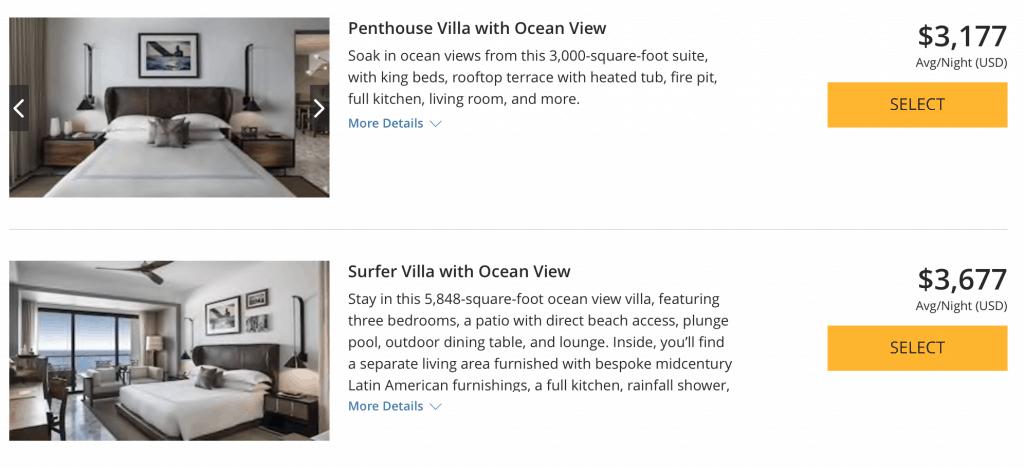 THE CAPE, A THOMPSON HOTEL 3 bedroom villa 50,000 hyatt points