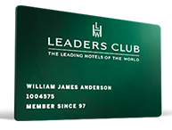 Leading Hotels of the World Leaders Club status
