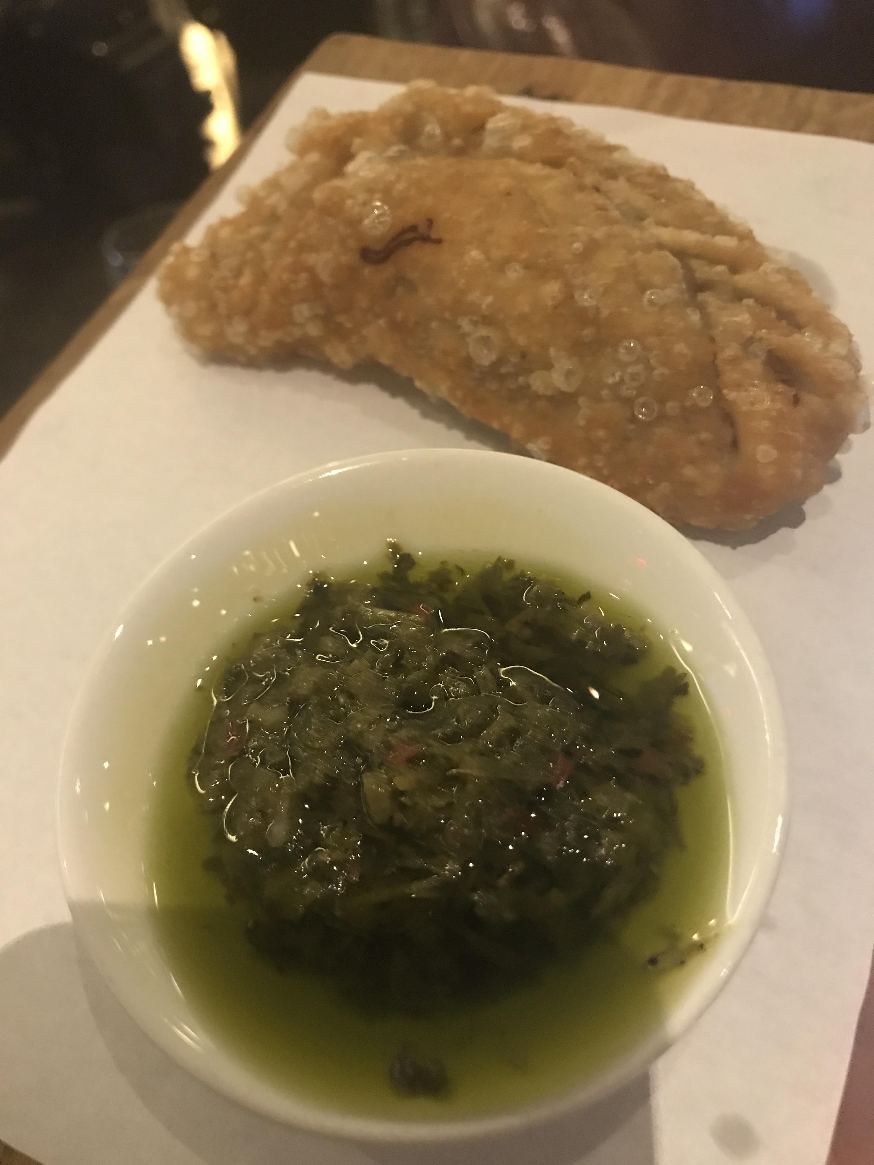 Chicken Empanada with Chimichurri - Virgin Clubhouse NYC