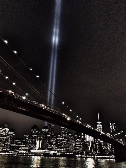 WTC memorial lights