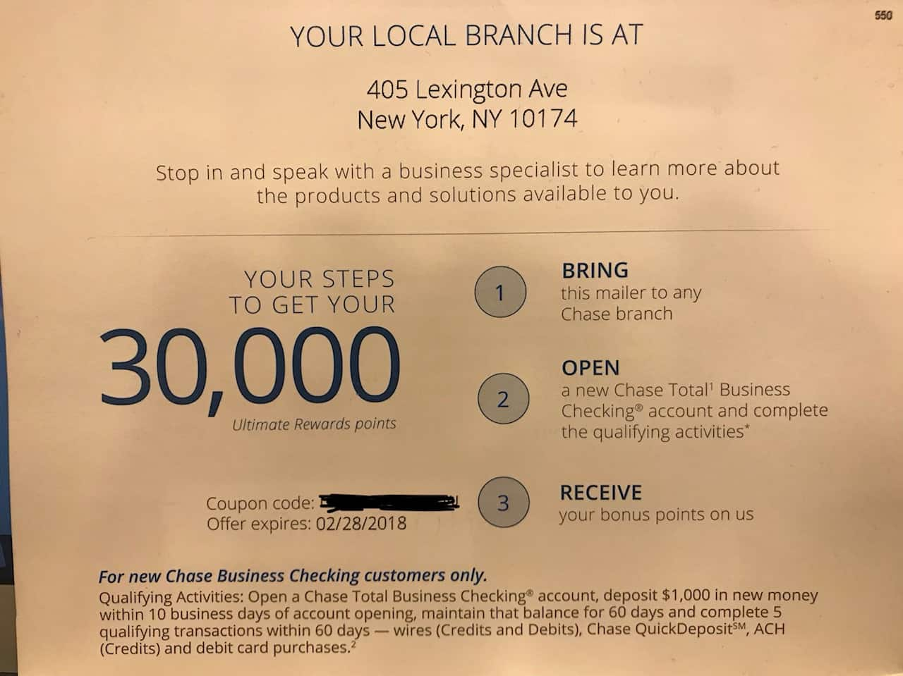 30000 ultimate rewards points for a chase business checking account if you have a business how much you want the hassle of a new business bank account i suspect this will be a very nice ur bonus for many colourmoves