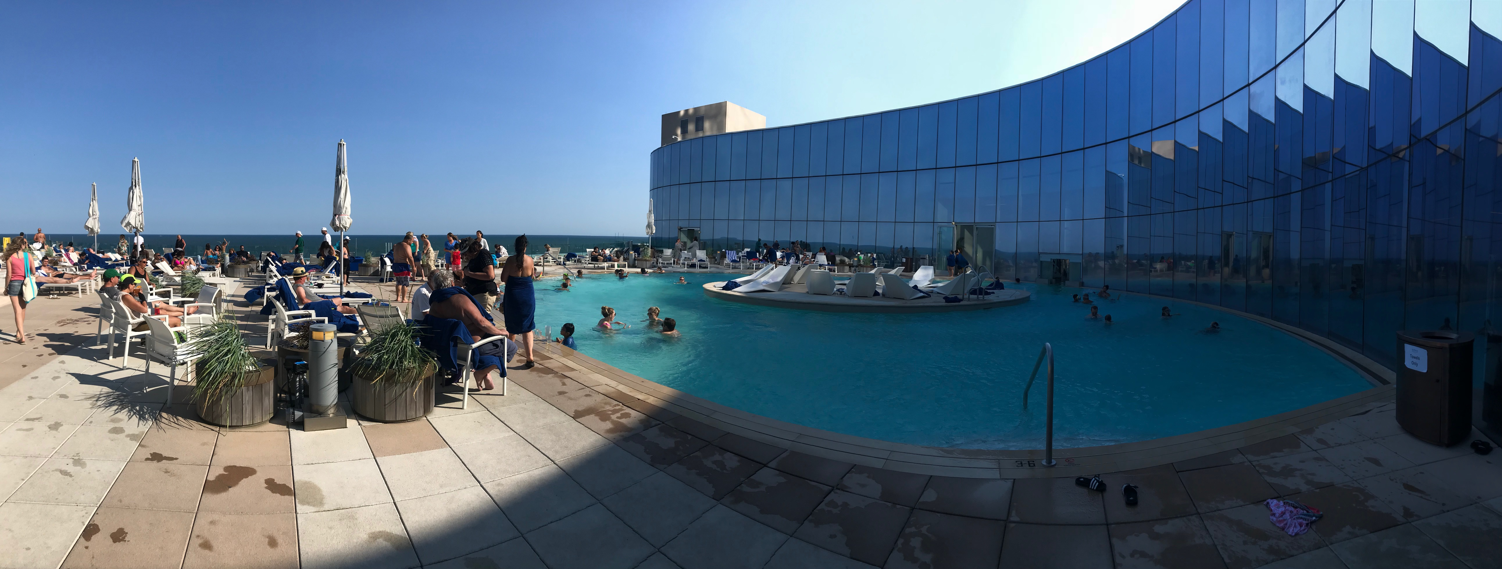 Panoramic picture of Pool at Ocean AC