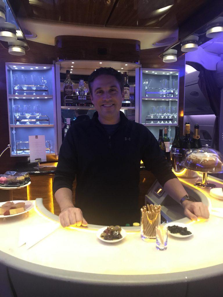 Emirates First Class Bar