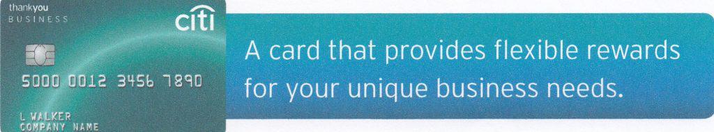 citibuiness thankyou card