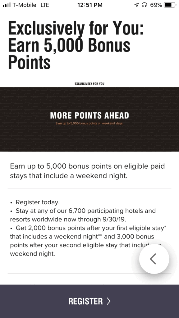 Marriott targeted summer promo