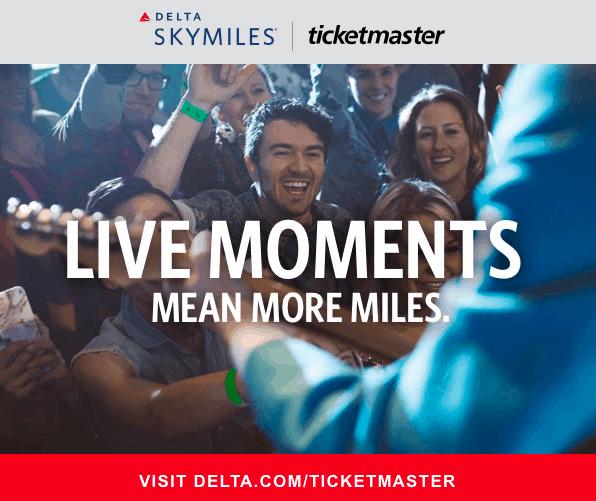 delta ticketmaster miles
