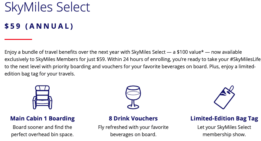 skymiles select