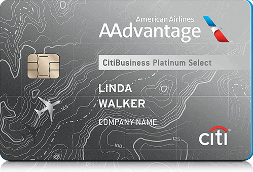 aa american airlines citibusiness credit card