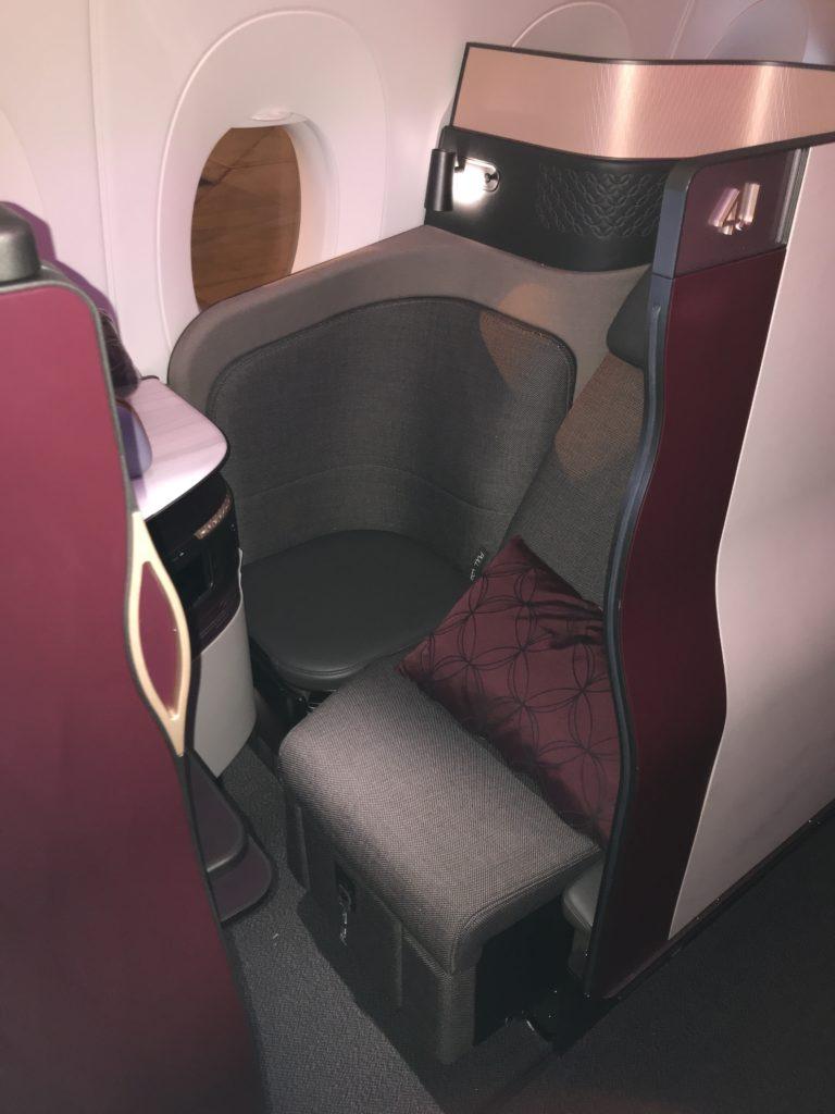 A Qatar Airways QSuite