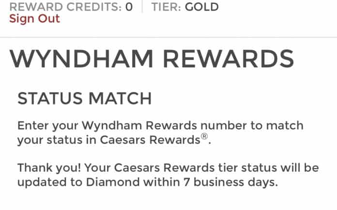 caesars wyndham match
