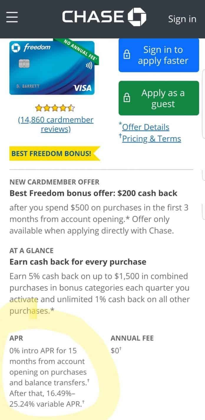 Chase Freedom Removes Balance Transfer Offer; Referral Link