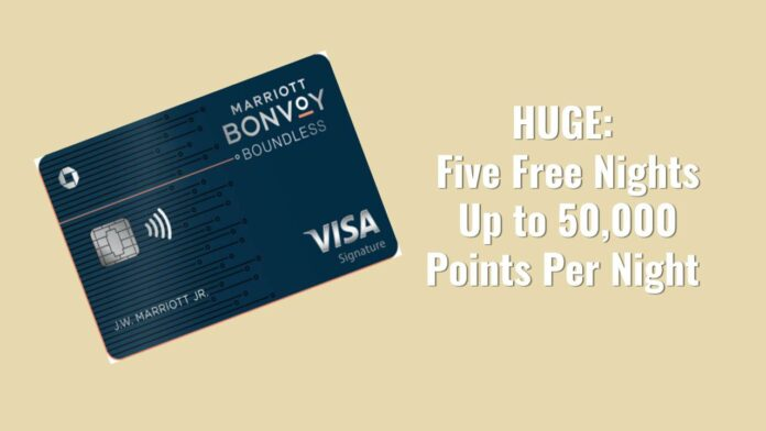 5 free marriott nights bonvoy boundless