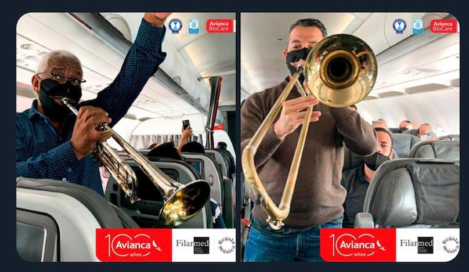 avianca musicians onboard