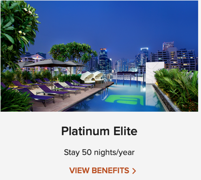 marriott platinum with a credit card