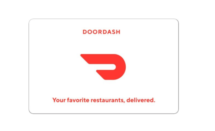 door dash gift card 20% off