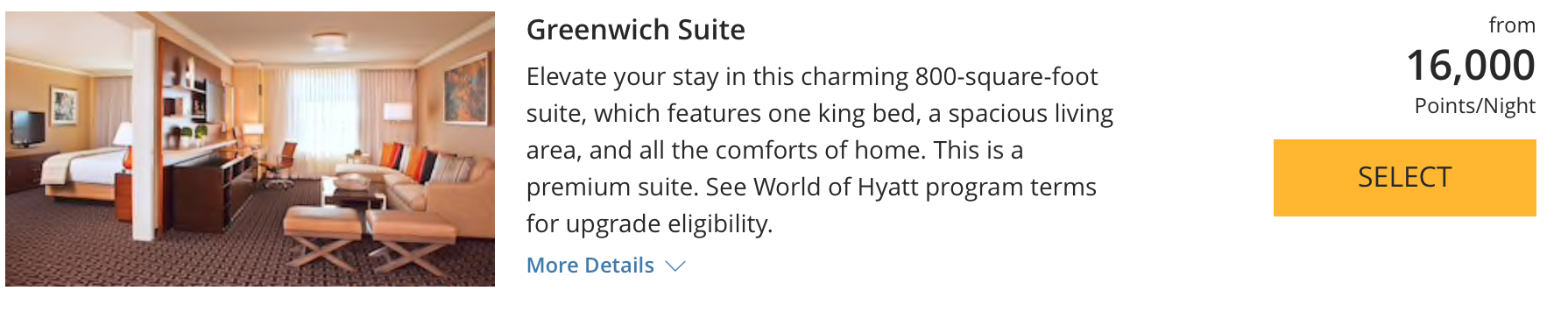hyatt greenwich suite
