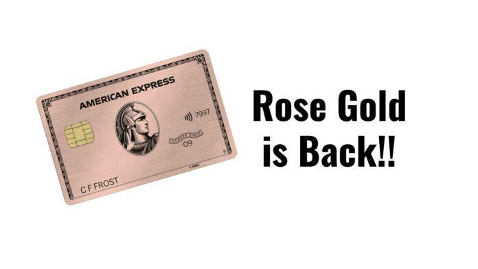 rose gold amex