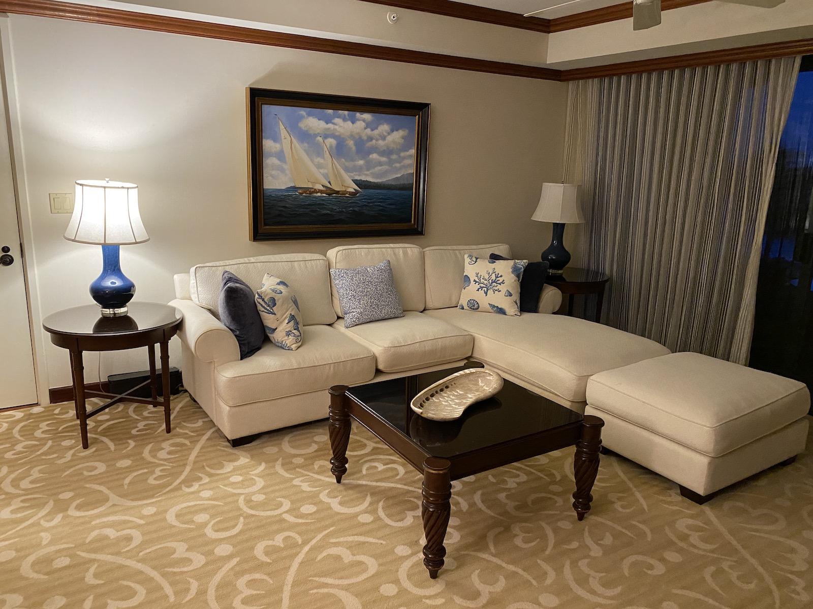 Grand Hyatt Kauai - Oceanview Suite Living Room