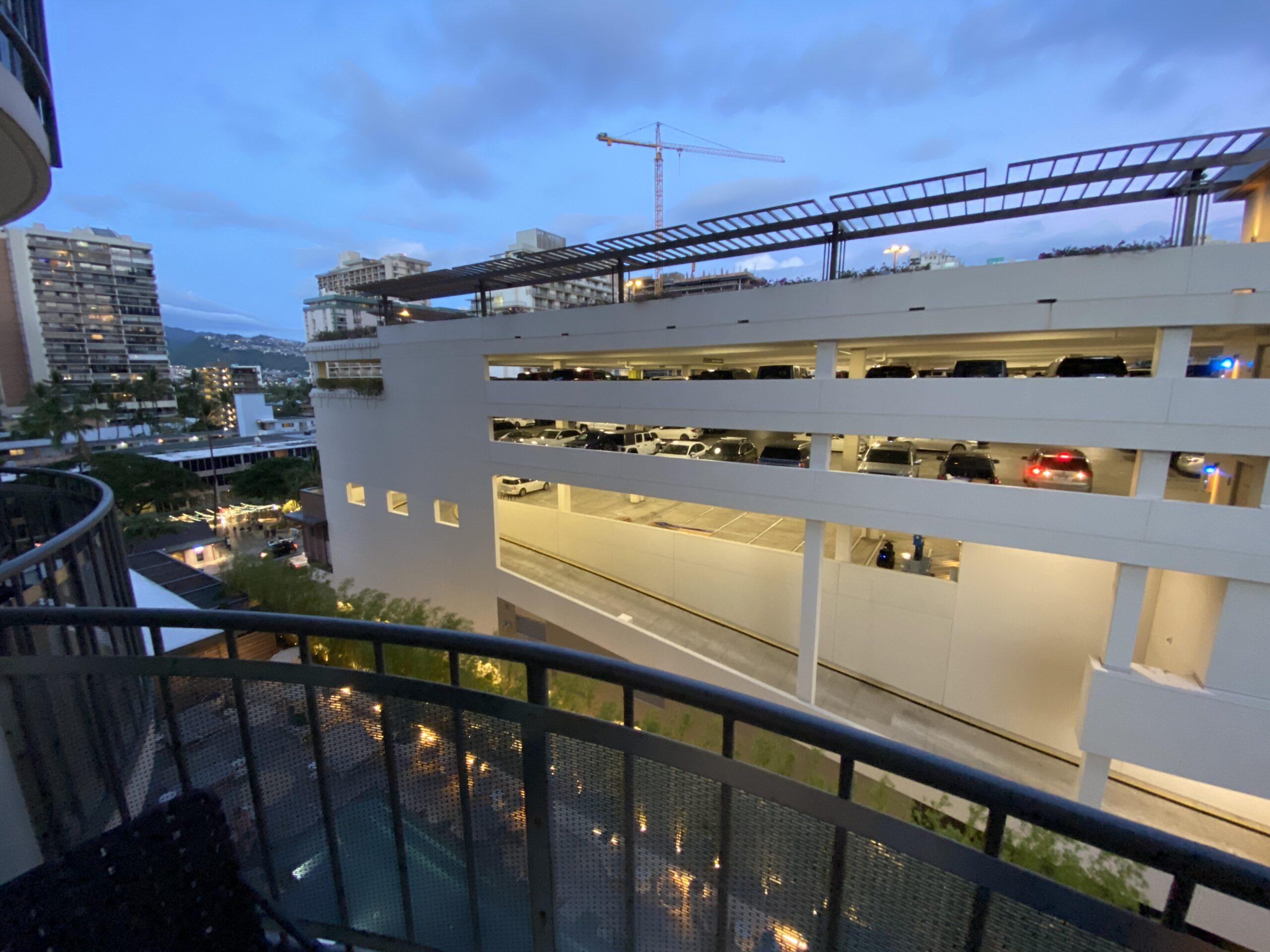 laylow waikiki balcony and view