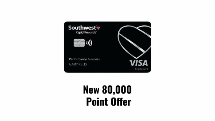 southwest performance business credit card 80000