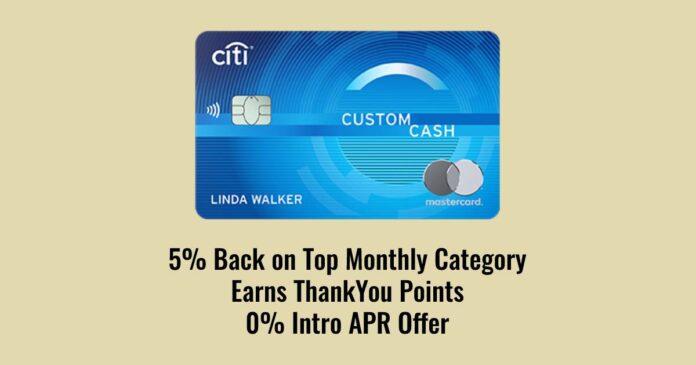 citi custom cash 5%