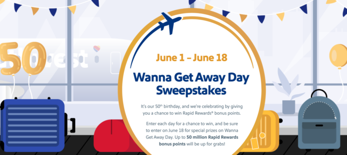 southwest airlines 50th birthday contest