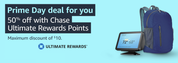 amazon 1 chase point 50% off