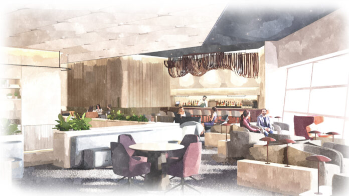 capital One lounge dallas rendering