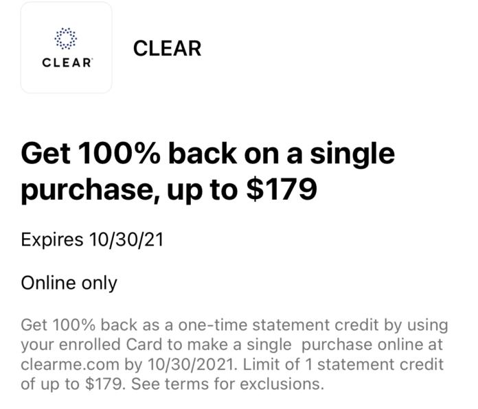 free CLEAR membership amex