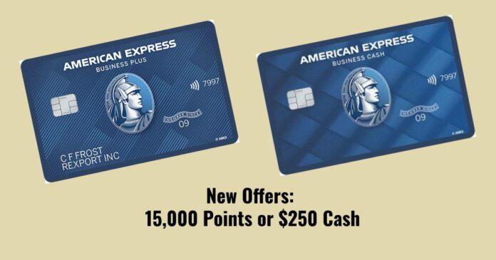 amex blue business plus cash 15,000 $250