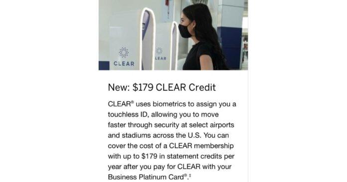 amex business platinum clear credit