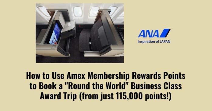 how to book ana round the world award amex