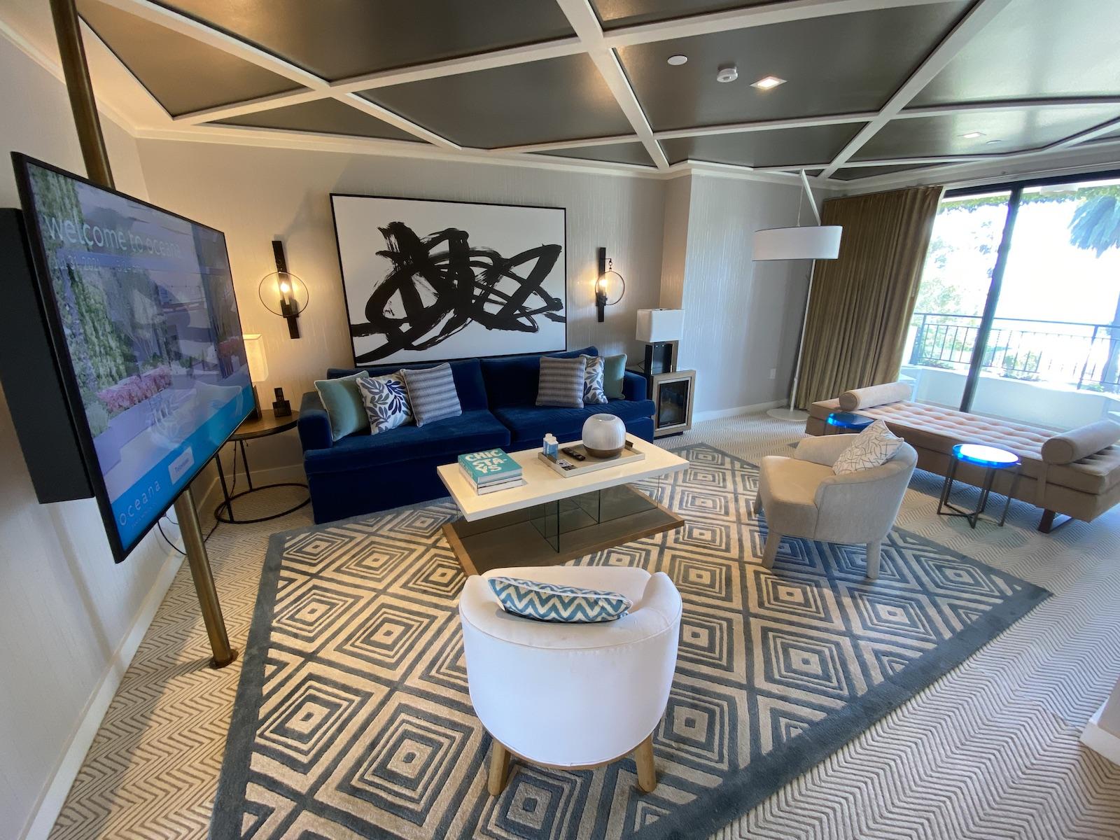 Oceana Santa Monica oceanview suite living room