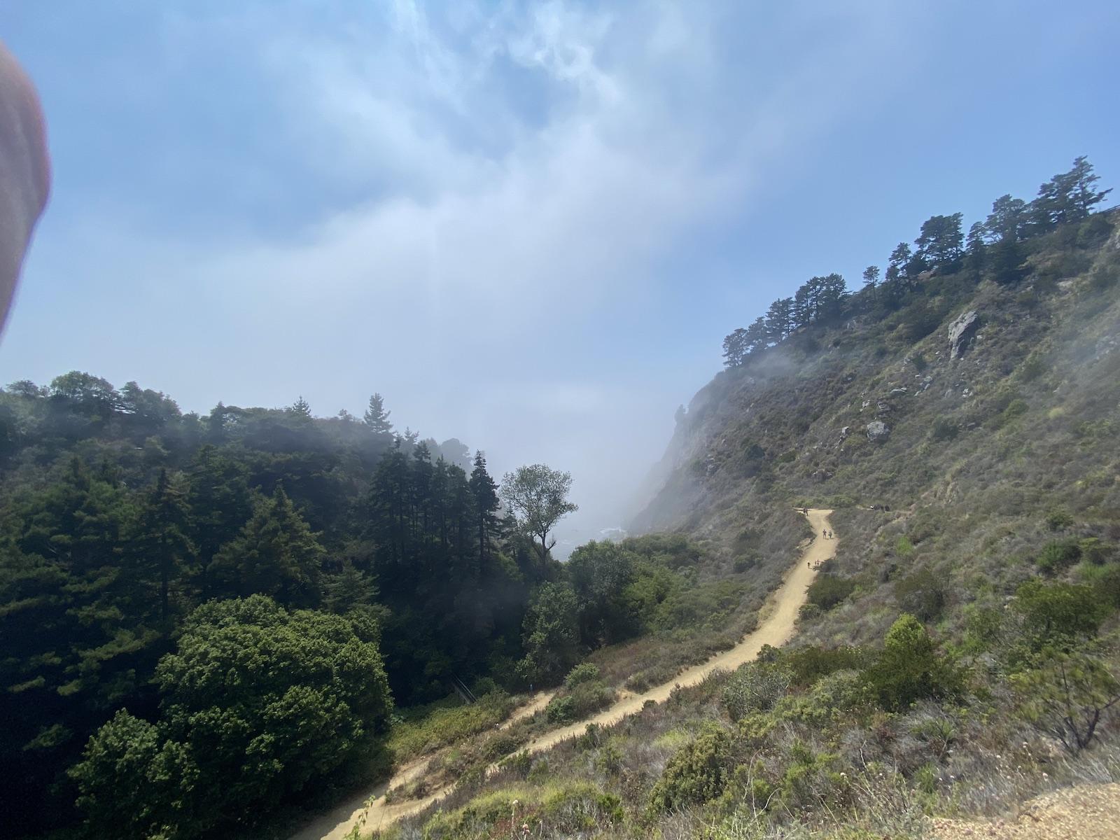 Hiking up Partington Canyon