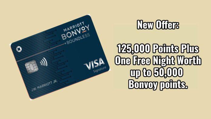 bonvoy boundless 125k plus free night 50k