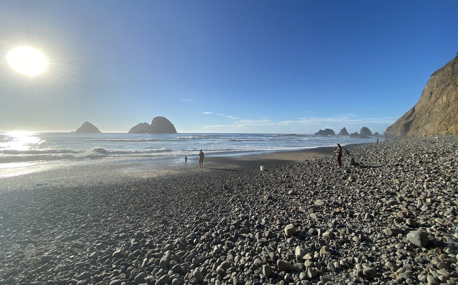 Tunnel Beach - Oceanside, OR