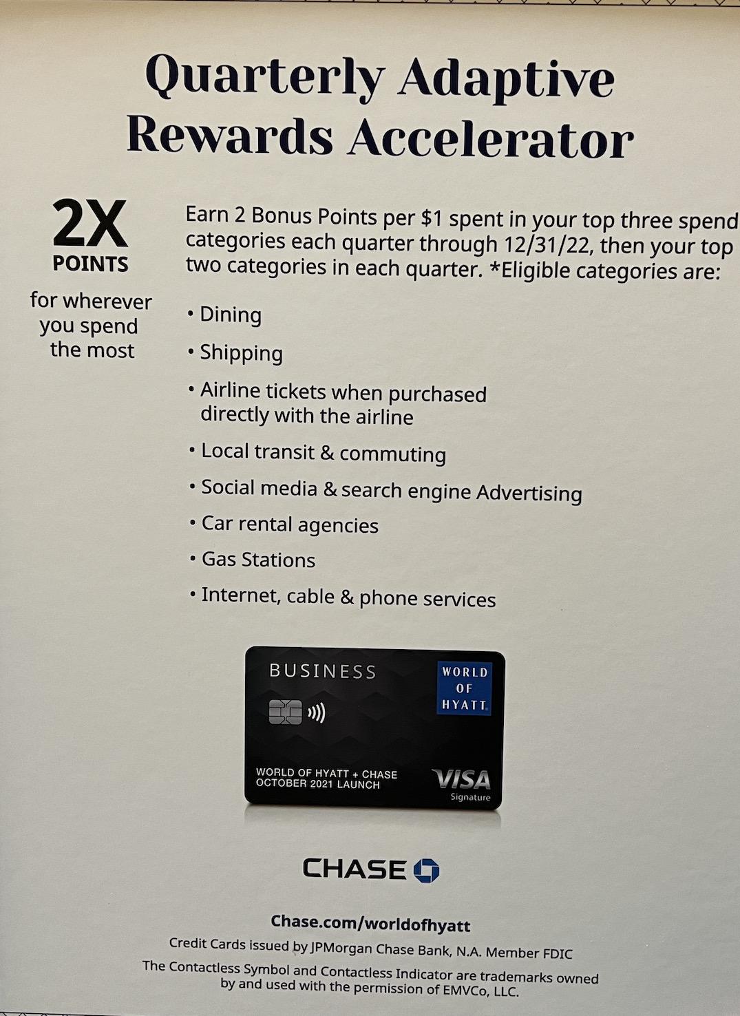 Hyatt business card accelerator